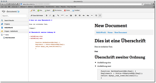 Document.ly – Online Markdown Editor