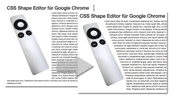 CSS Shapes Editor für Google Chrome