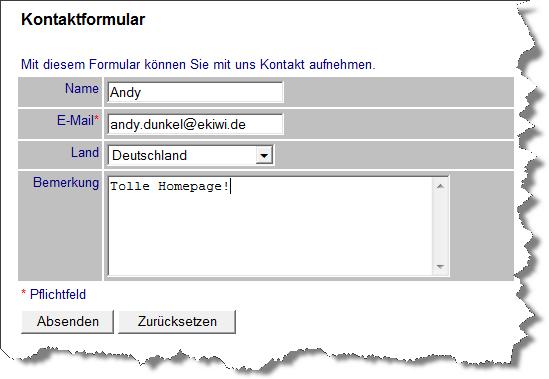 Funktionsfähiges HTML Kontaktformular in 3 Minuten – eKiwi-Blog.de