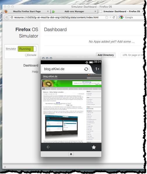 Firefox Emulator