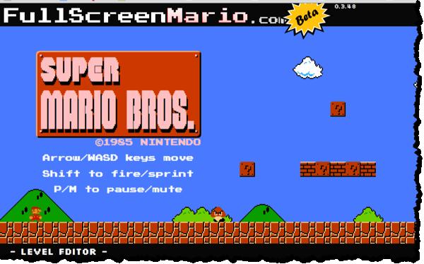 Super Mario im Browser spielen
