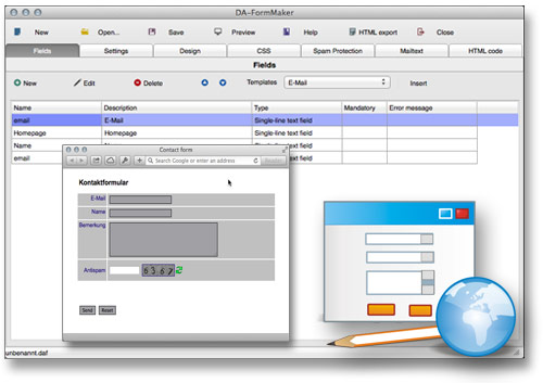 DA-FormMaker für den Mac