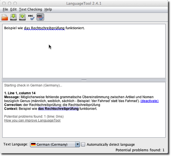 Language Tool Desktop Version