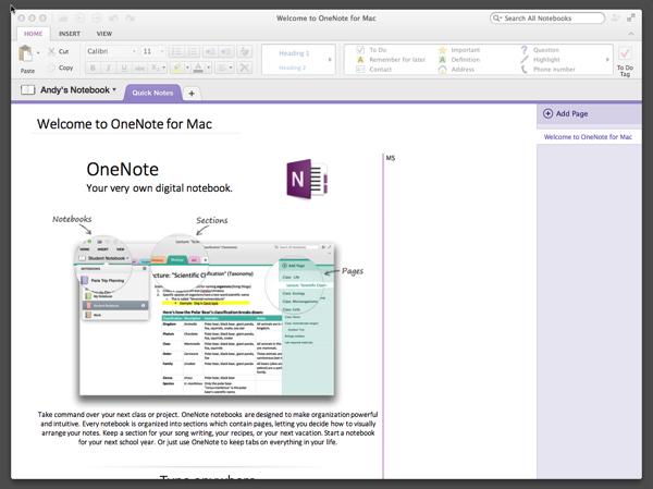 OneNote – Kostenlos und auch für den Mac