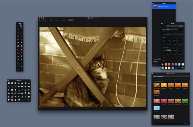 Pixelmator für den Mac gerade stark reduziert