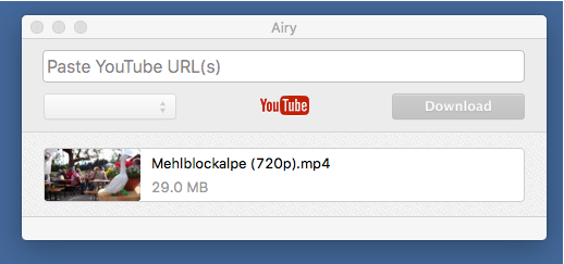 Airy- Youtube Videos auf dem Mac downloaden