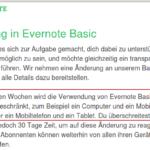 Einschränkungen bei kostenlosem Evernote Accounts