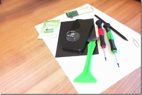Foto der Werkzeugbestandteile