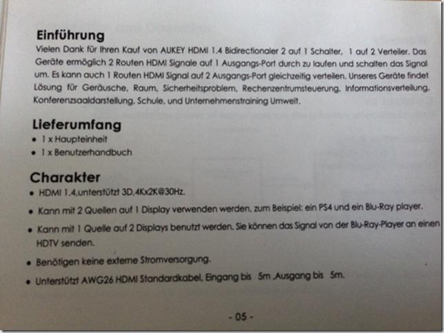 Bild zur Anleitung des HDMI-Splitter