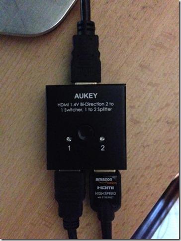 Foto zum HDMI-Splitter im Einsatz