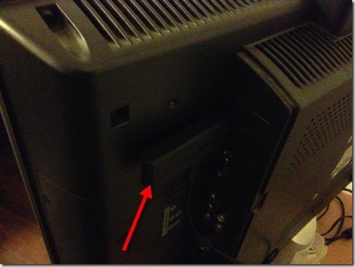 Bild Anschluss an HDMI-Port des Fernsehers