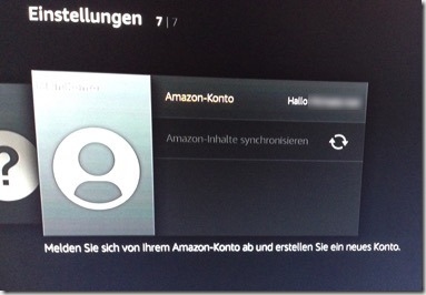 Screenshot Einrichtung des Amazon-Prime Benutzerkonto