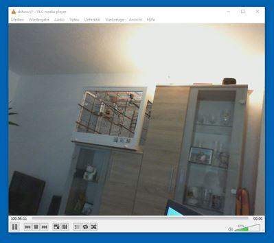 VLC und Webcam