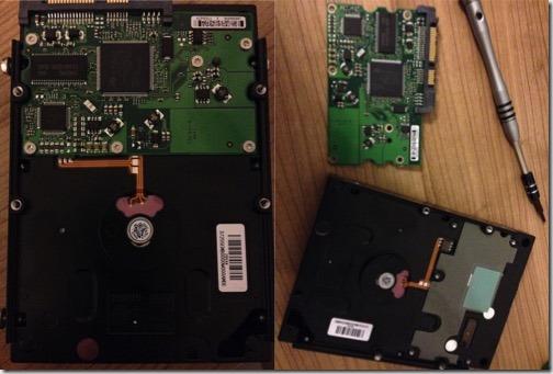 Laufwerkselektronik einer Festplatte