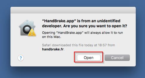 Gatekeeper - Anwendung lässt sich öffnen