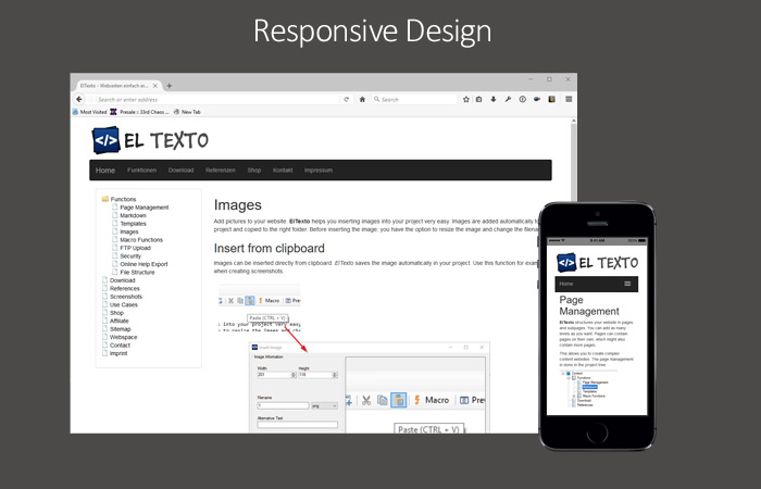 ElTexto -Responsive Webseiten