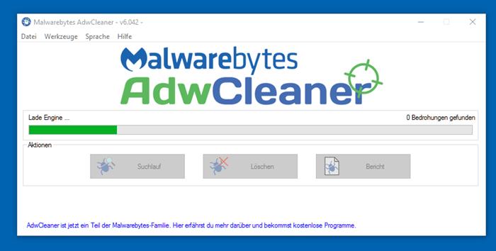 AdwCleaner Suchlauf
