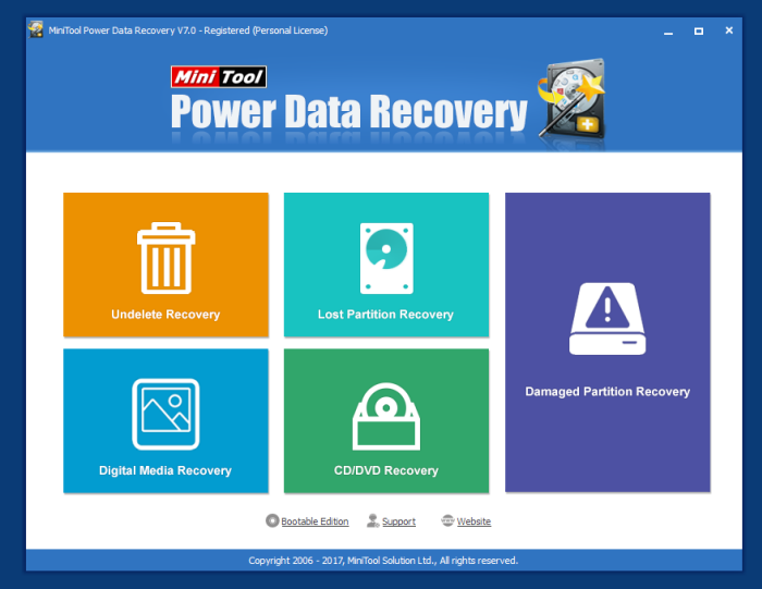 MiniTool Power Data Recovery - Hauptfenster