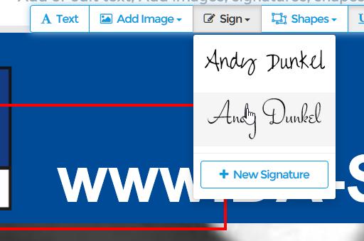 Online PDF Editor Signatur einfügen
