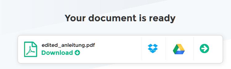 Bearbeitungsfunktionen des PDF-Editors