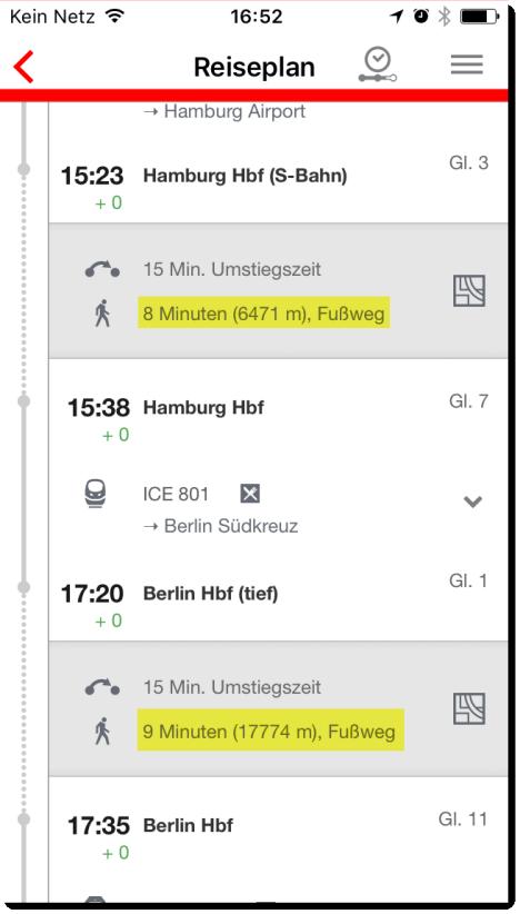 iPhone Screenshot DB App (Deutsche Bahn)