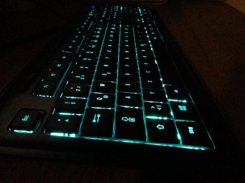 Speedlink Tastatur beleuchtet im dunkeln