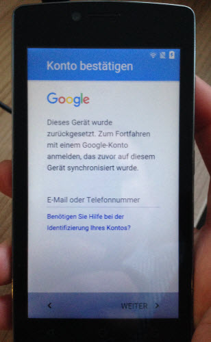 TP-Link Neffos Google Konto Anmeldung nach HardReset