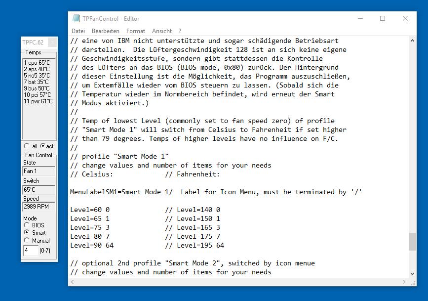 TP-FanControl – Lüftersteuerung für Thinkpads – eKiwi-Blog de