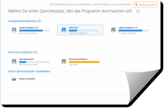 Screenshot EaseUs Datarecovery