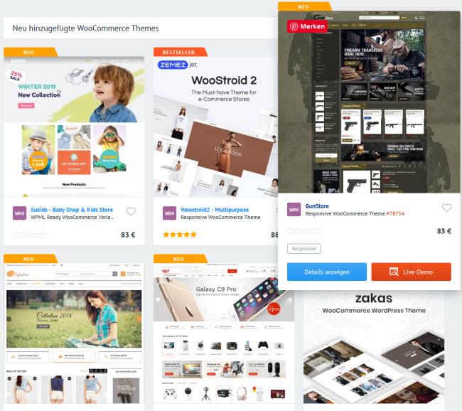 Themes für WooCommerce