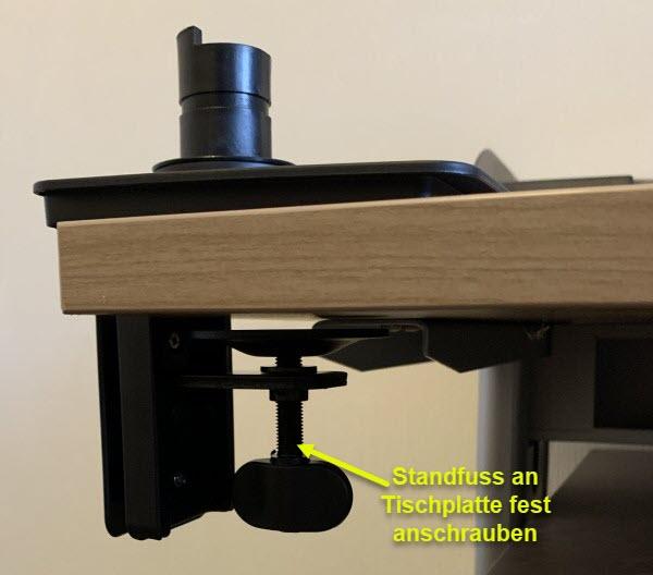 Foto Standfuss an Tischplatte montieren