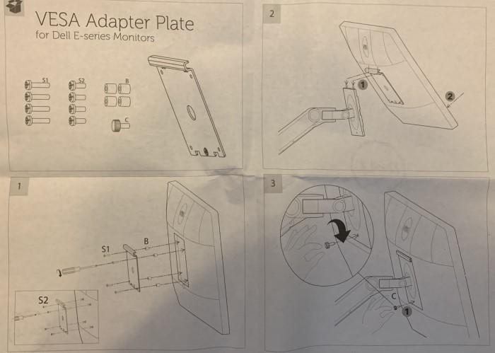 VESA Adapter Platte für Monitorarm