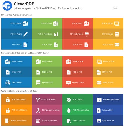Screenshot Online-Dienst PDF bearbeiten