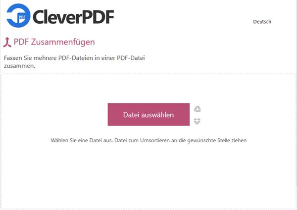 PDF-Dateien online kombinieren zu einer Datei
