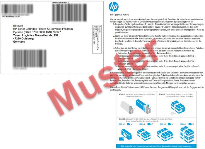 HP Toner entsorgen