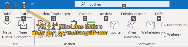 Screenshot Shortcut Schnellzugriff