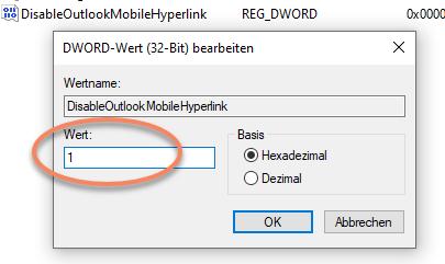 Screenshot Registry-Schlüssel bearbeiten
