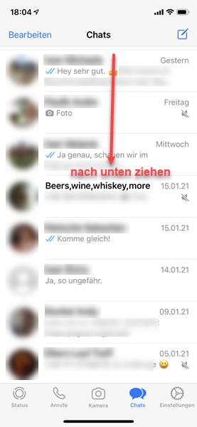 iPhone Screenshot WhatsApp Chats