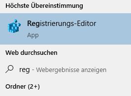 Starten des Registrierungs-Editors