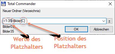 Screenshot Total Commander Neuer Ordner (Verzeichnis) erstellen