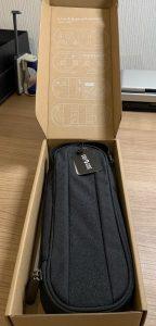 Foto Päckchen mit Kabel-Tasche