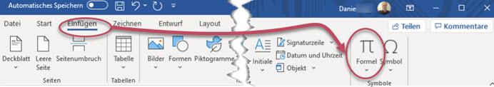 Microsoft Word Formel einfügen