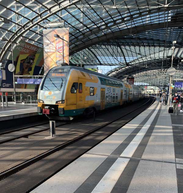 Photo of ODEG train in Berlin main station