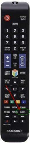 Image of Samsung remote control